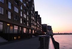 Köln Hafen Morgendämmerung